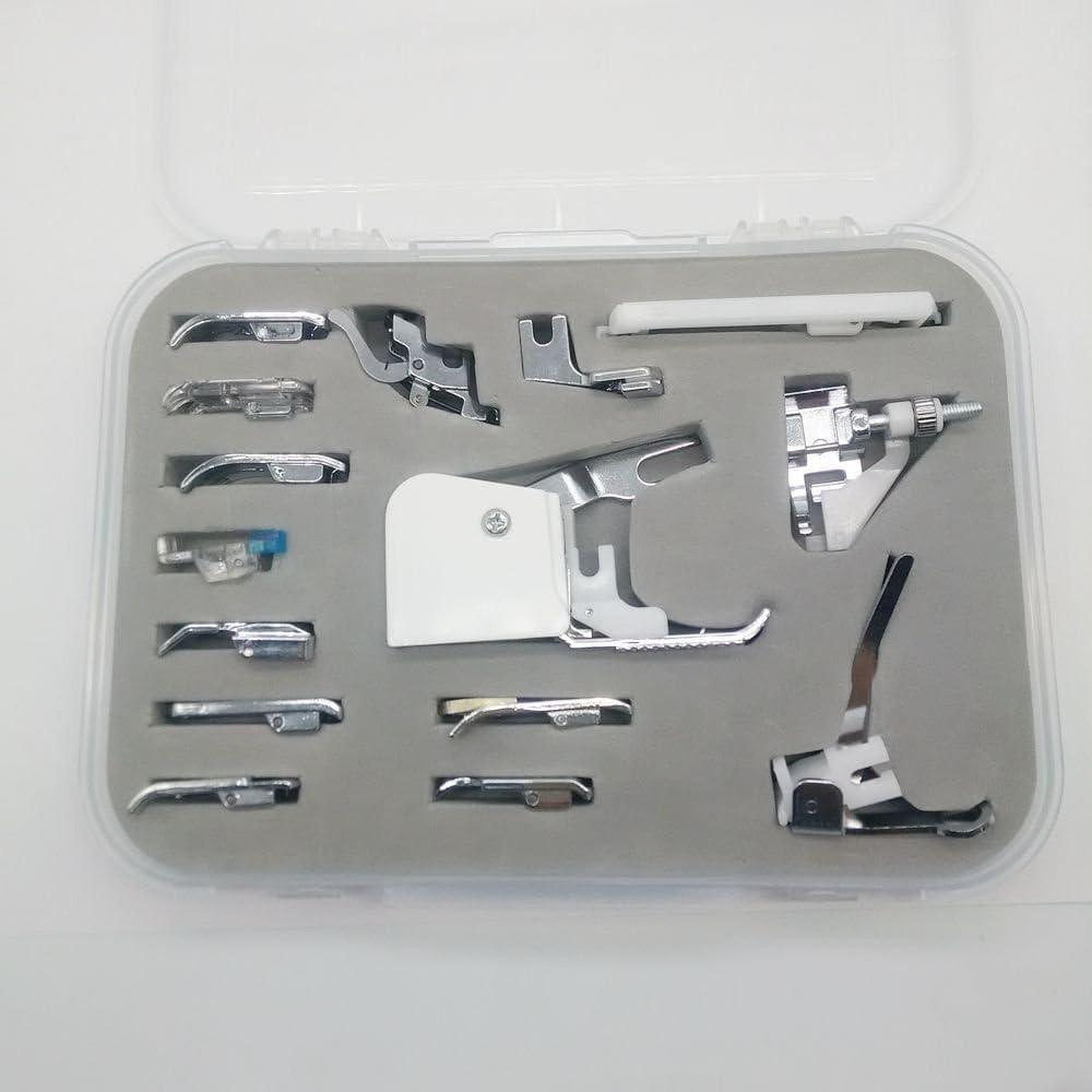 honeysew 15pcs Universal juego de prensatelas para máquina de ...