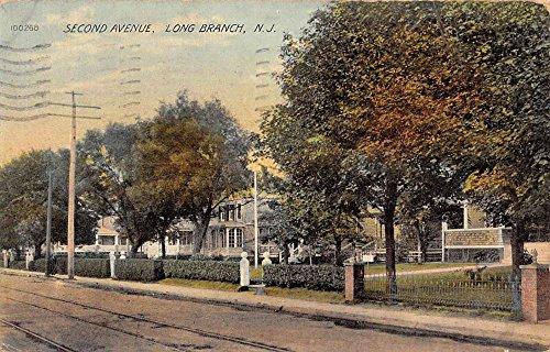 Avenue Street Scene - Long Branch New Jersey Second Avenue Street Scene Antique Postcard K92780