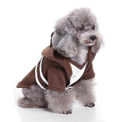 NYJ Perro Ropa para Mascotas, Gato Perro Guerrero Vestir Conjunto Traje de Lana Chaqueta Mono