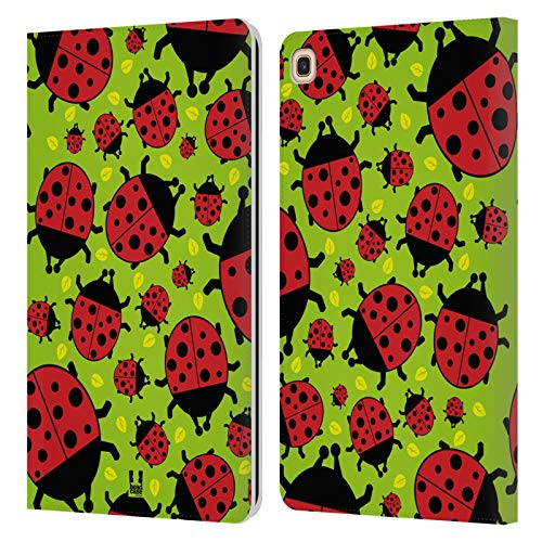 Head Case Designs Green Ladybug Bugged Life Leather Book Wallet Case Cover Compatible for Galaxy Tab A 8.0 & S Pen 2019