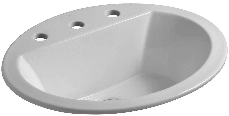 Oval drop in bathroom sink - Kohler K 2699 8 0 Bryant Oval Self Rimming Bathroom Sink With 8 Inch Centers White Bathroom Sinks Amazon Com