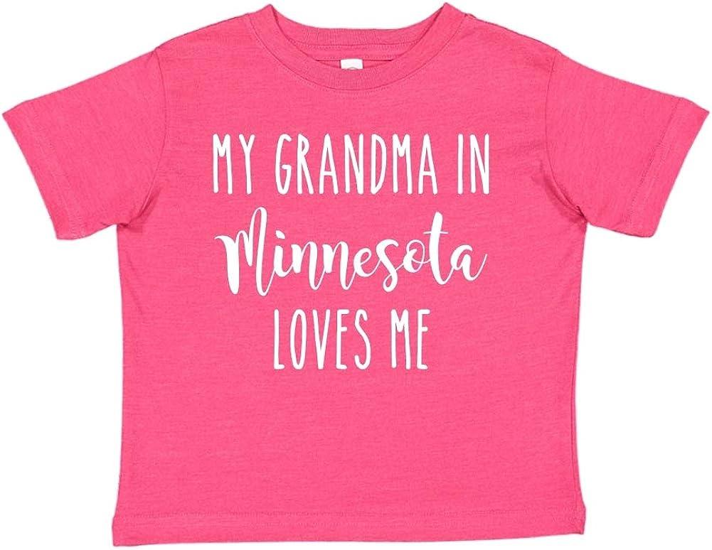 Toddler//Kids Short Sleeve T-Shirt My Grandma in Minnesota Loves Me