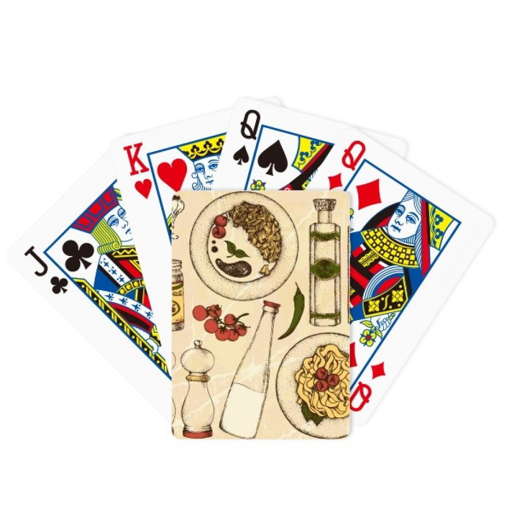 Italy Customs Resident Diet Illustration Poker Playing Cards Tabletop Game Gift