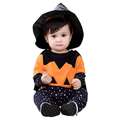 hibote Bebé Invierno Calabaza Halloween Traje Trajes 4 Piezas ...
