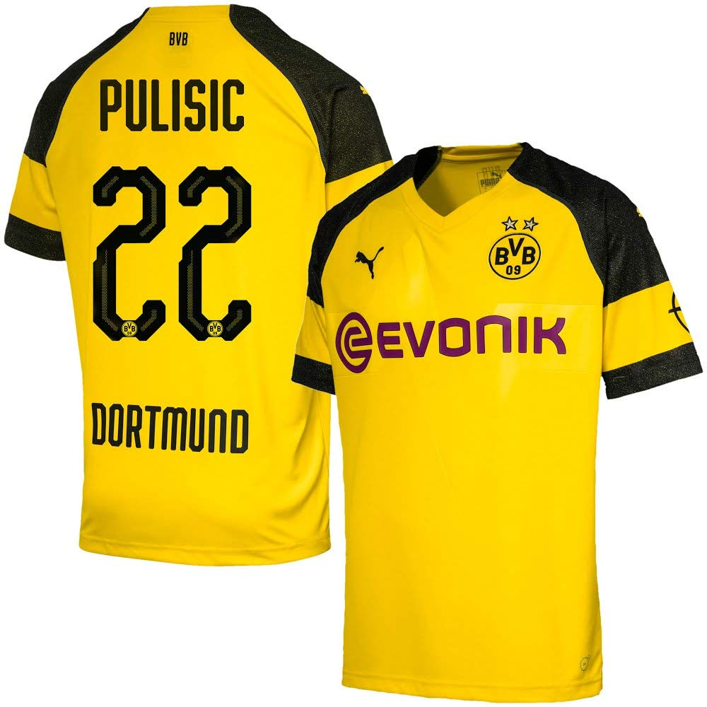 748be3f3dab Amazon.com   PUMA Borussia Dortmund Home Pulisic 22 Jersey 2018 2019  (Official Printing)   Sports   Outdoors