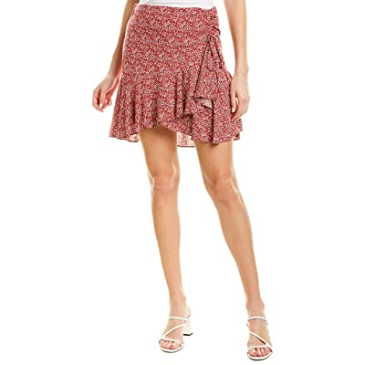 1.STATE Womens Skirt, 2, Red at Women's Clothing store