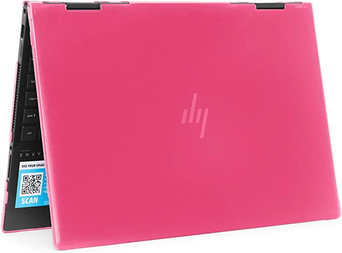 "mCover Hard Shell Case for 2019 15.6"" HP Envy X360 15-DSxxxx / 15-DRxxxx Series (NOT Compatible with X360 15-AQxxx / 15-BPxxx and Other Series) (Pink)"