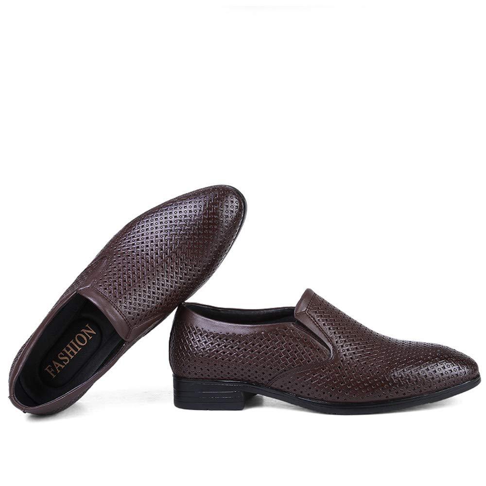 Sunny&Baby Herren Business Oxford Casual Leder Größe des Codes British Leder Casual und ausgehöhlten Formelle Schuhe Abriebfeste (Farbe : Hollow Dark Braun, Größe : 43 EU) - b8ae78
