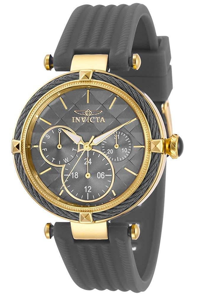 Invicta Women s Bolt Stainless Steel Quartz Polyurethane Strap, Grey, 18 Casual Watch Model 28967