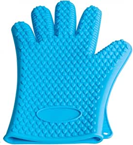 Ebow BBQ Grilling Cooking Gloves, 932°F Extreme Heat Resistant Gloves - 1 Pair Blue