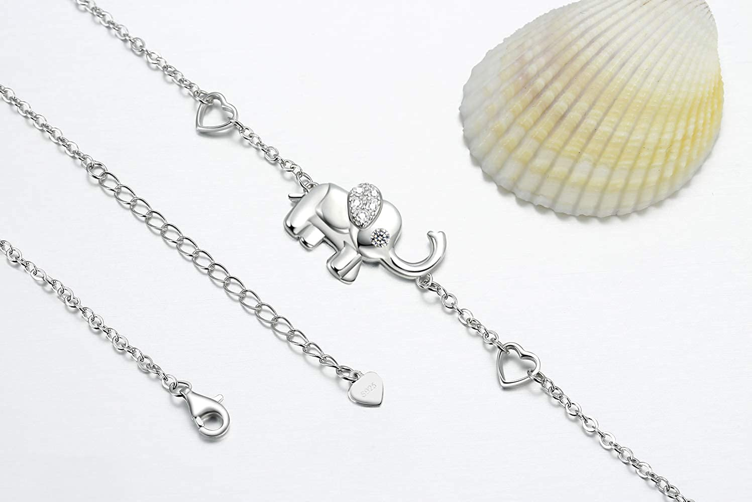 OneSight Elephant Bracelet//Anklets for Women 925 Sterling Silver Elephants Bracelets Jewelry