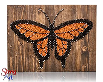 Amazon string art kit monarch butterfly decor butterfly string art kit monarch butterfly decor butterfly string art adult craft set prinsesfo Choice Image