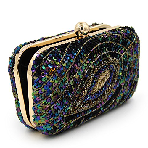 Handbag Kiss Black Crossbody Clutches Ball Lock Evening Ladies Shoulder Bag With Unique Purse q87vvX