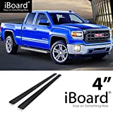 """For 2007-2018 Chevy Silverado/GMC Sierra Double Cab/Extended Cab (Nerf Bar   Side Steps) 4"""" eBoard Running Boards"""