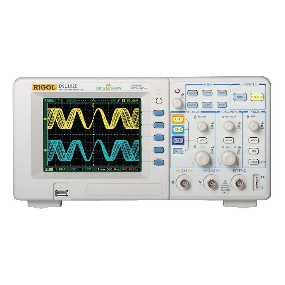 Dual Analog Channels Rigol DS1102E 100MHz Digital Oscilloscope 1 GSa//s Sampling USB Storage