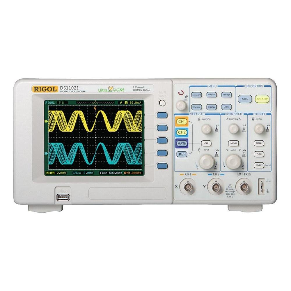 Best Rated In Lab Oscilloscopes Helpful Customer Reviews Circuit Construction Kit Acdc Virtual Screenshot 1 The Rigol Ds1102e 100mhz Digital Oscilloscope Dual Analog Channels Gsa S Sampling