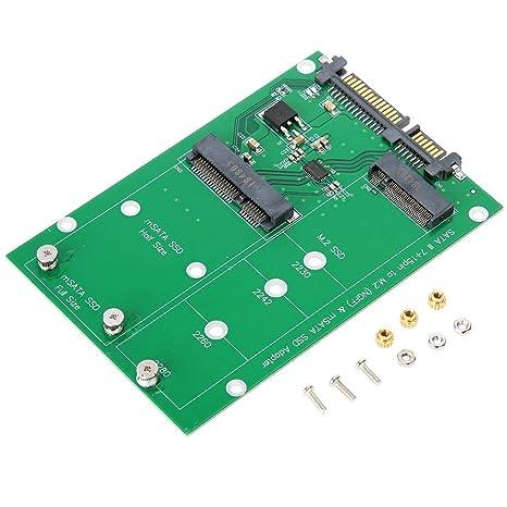 Wendry Tarjeta adaptadora SSD, M.2 MSATA a SATA3 Laptop Laptop SSD ...