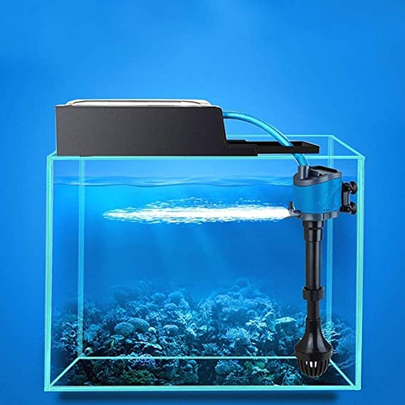 Caja de filtro externa para la bomba de acuario Caja de filtración de longitud ajustable con piezas para sistema de circulación de agua Pecera - Negro: ...