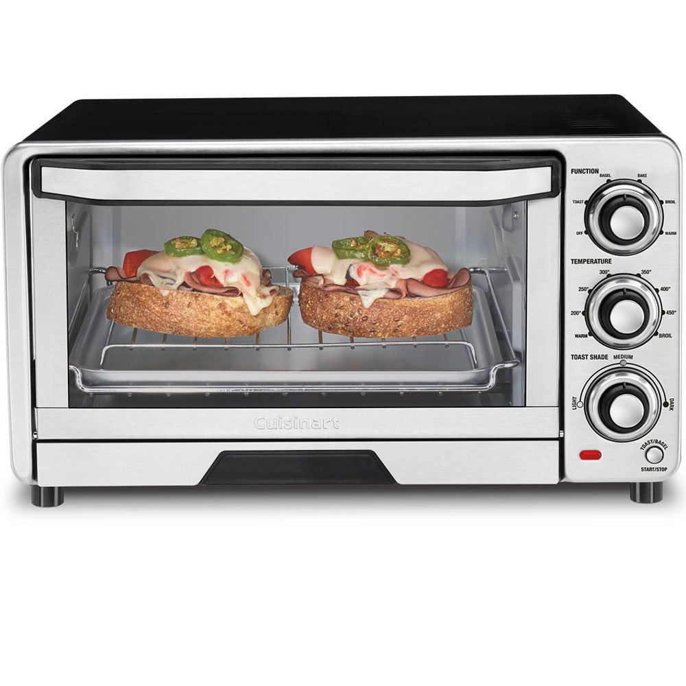Cuisinart TOB-40FR Custom Classic Toaster Oven Broiler, Silver (Certified Refurbished)