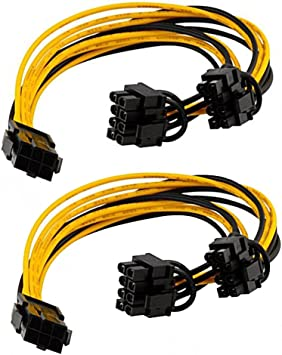 6+2 6 Pin to 8 Pin PCIe Cable for GPU Mining FAST shipping from within the US