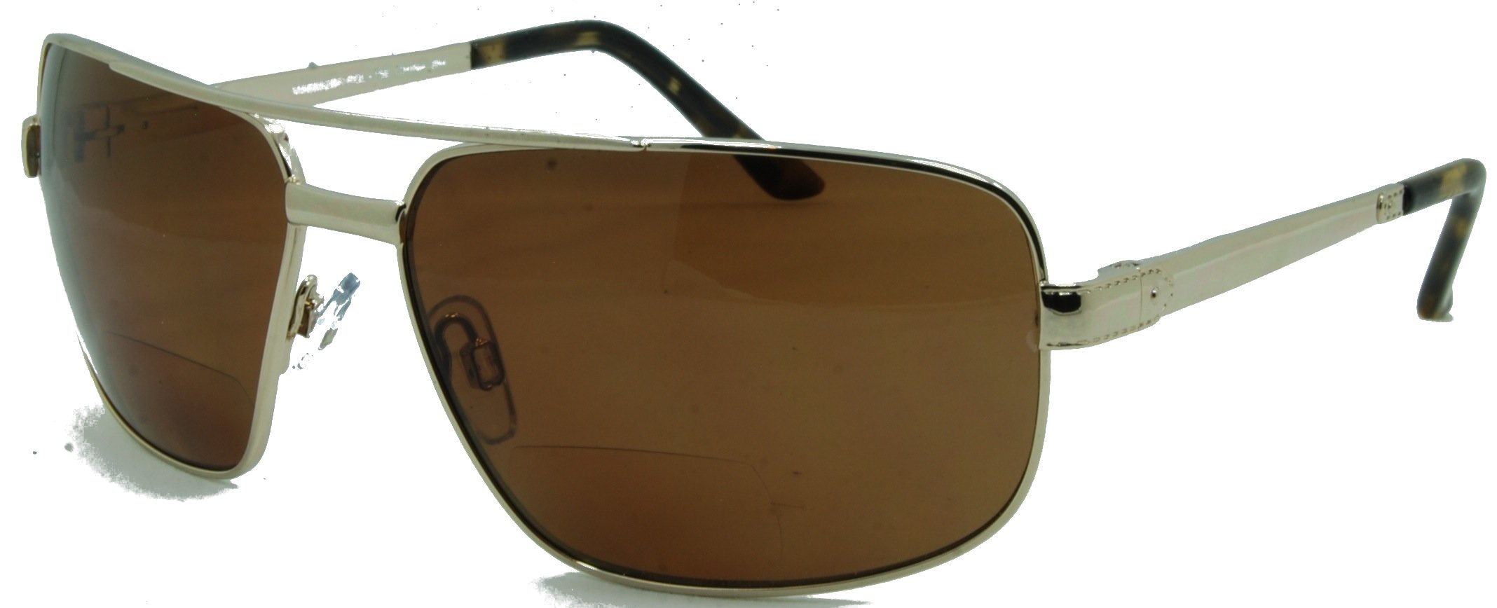 In Style Eyes Just Chillin Polarized Nearly Invisible Line Bifocal Sunglasses/Gold/1.50 Strength by In Style Eyes