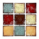 Hosley 24.75'' Square Multi Colored Metal Wall Decor Plaque. Abstract. Ideal Gift for Home, Weddings, Party. Home Office O4