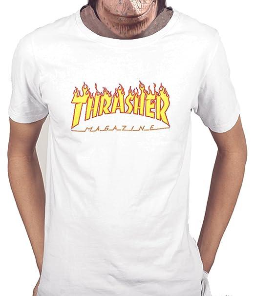 Acokaia Camiseta Thrasher para Hombre Color Negro i3NpB