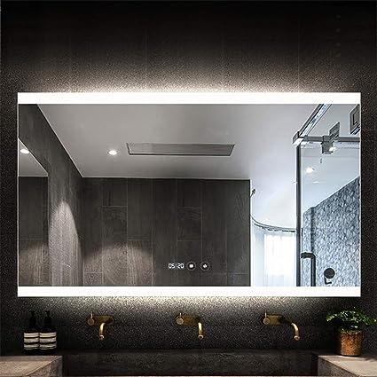 Miroir LED rétro-éclairé, La Salle de Bains composent Le ...
