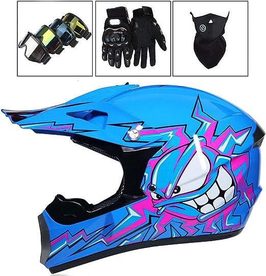 Casco de Motocross, Casco de Descenso para Adultos Regalos Gafas ...