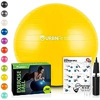 URBNFit Exercise Ball (Multiple Sizes) for Fitness, Stability, Balance & Yoga -...