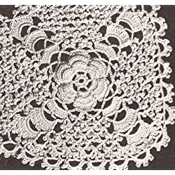Vintage Crochet PATTERN to make - Irish Sharon Rose MOTIF BLOCK Bedspread Pillow. NOT a finished item. This is a pattern and/or instructions to make the item only.