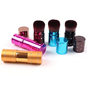Baomabao Cosmetic Makeup Retractable Blush Brushes Set Foundation Powder Eyeshadow Brush