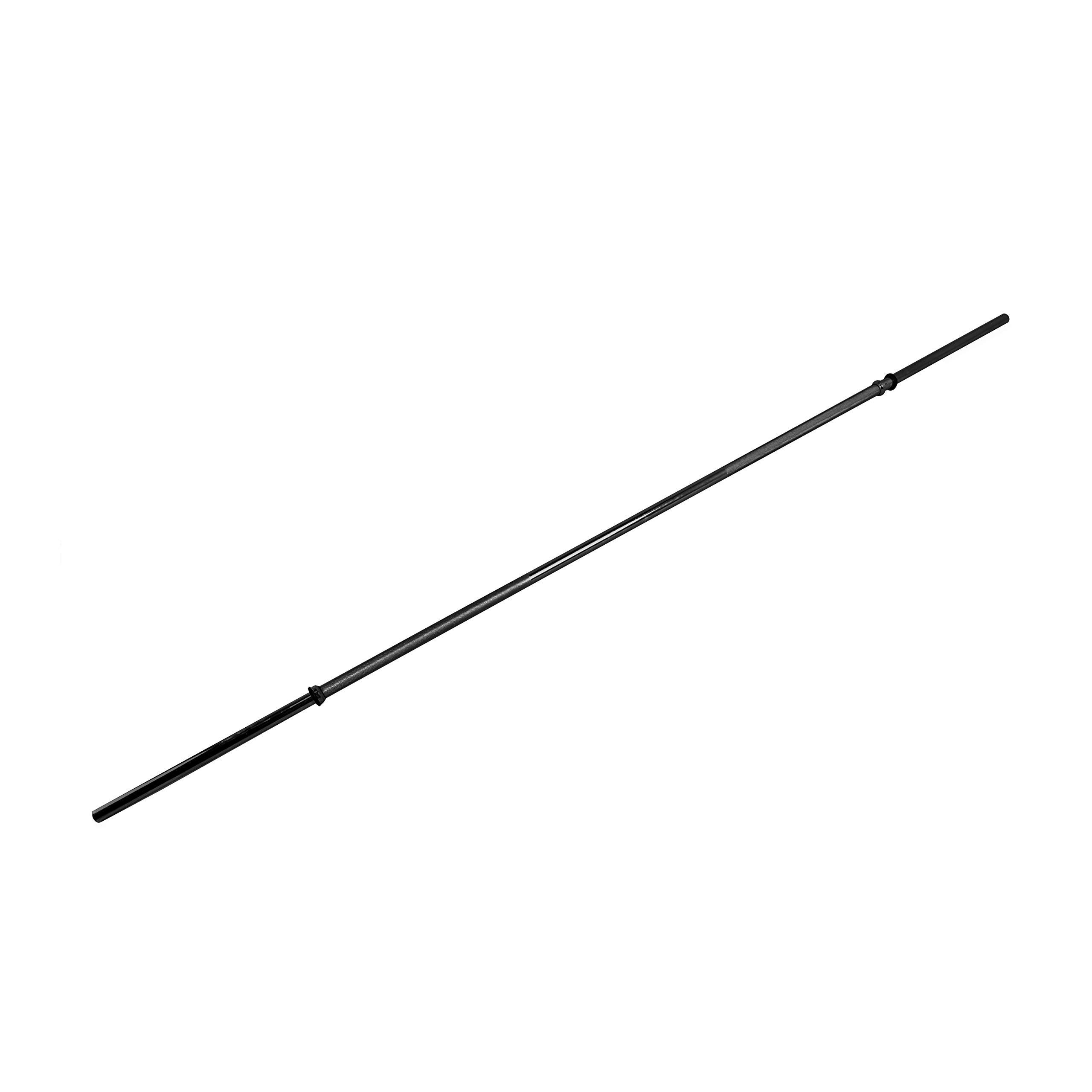 CAP Barbell 84'' Regular Solid Bar, Black