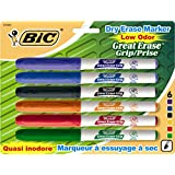 BIC Great Erase Dry Erase Markers, Assorted, Fine Tip, 6-Pack