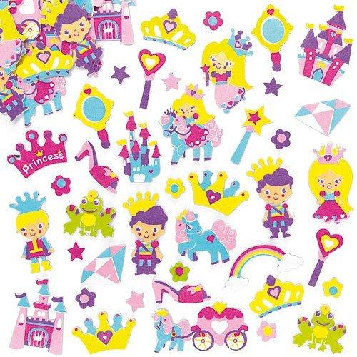 Pegatinas de Espuma con Diseños de Princesa para Decorar Tarjetas, Cuadernos, Manualidades, y Collages Infantiles (Pack de 120) Baker Ross