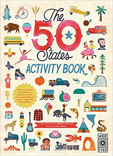 The 50 States: Activity Book: Maps of the 50 States of the USA ...