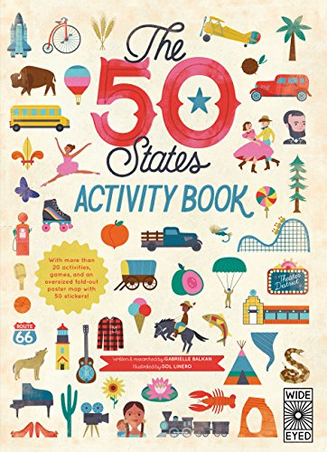 Geography Sticker - The 50 States: Activity Book: Maps of the 50 States of the USA