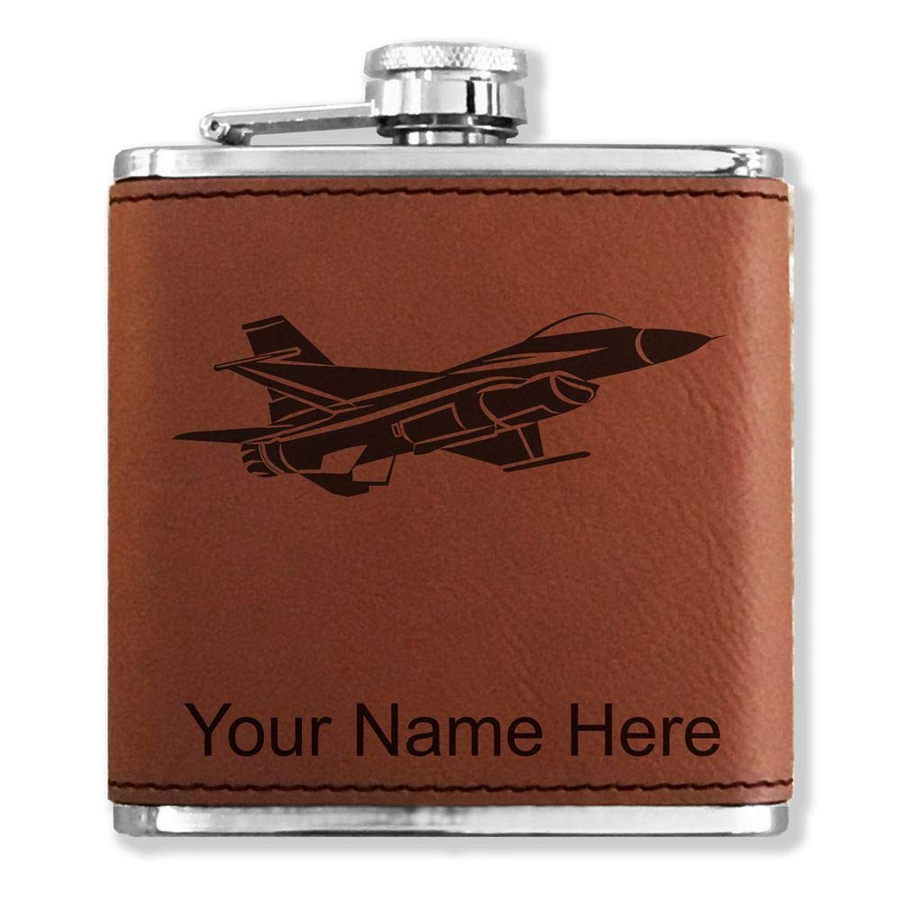 公式の  フェイクレザーフラスコ – F - - 16 F B013L5XC4Q Fighter Jet – カスタマイズ彫刻Included (ダークブラウン) B013L5XC4Q, Jewelry&Watch LuxeK:7fe23901 --- sparkinsun.com