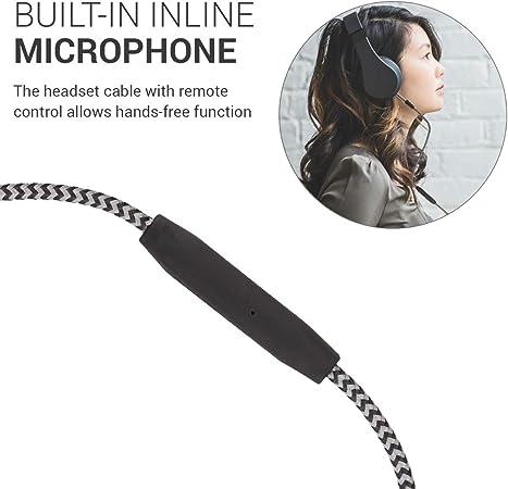 TEUFEL Kopfhörerkabel für Over-Ear-Kopfhörer Rot gepanzert 3,5 auf 6,3 3M