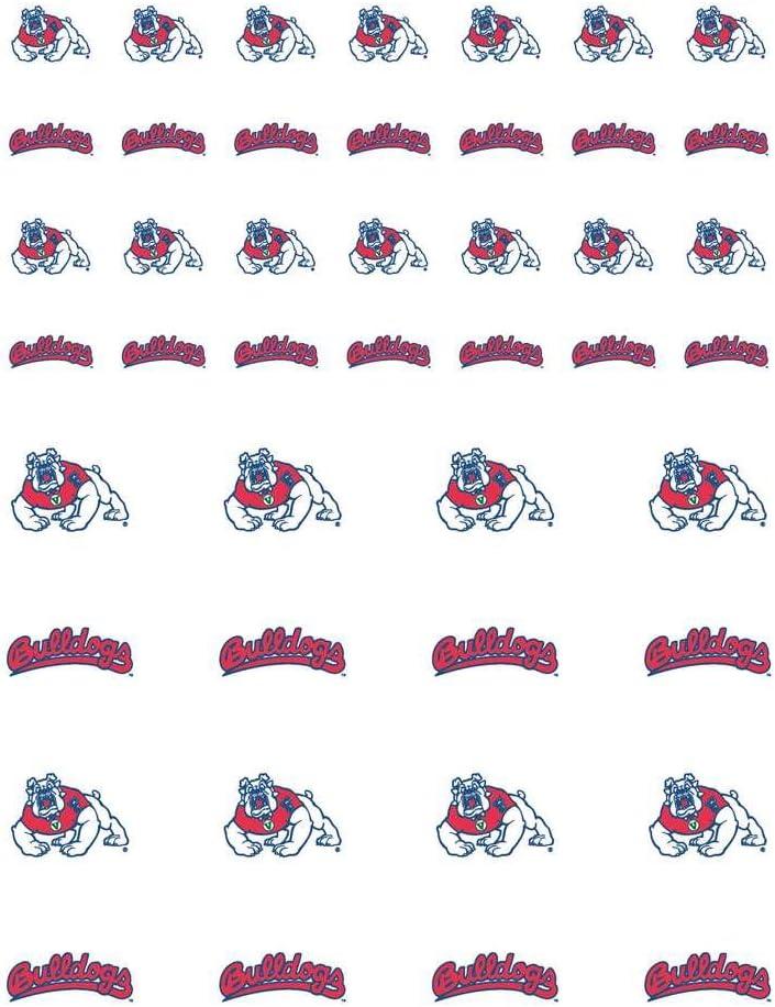 The Fanatic Group Fresno State Bulldogs Small Sticker Sheet - 2 Sheets