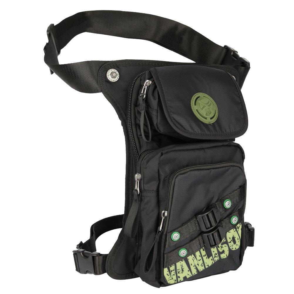 Vanlison Pierna bolsa, bolsa de senderismo, motocicleta bolsa táctico pierna muslo riñonera bolsa Pouch Concealed cintura bolsa, Lake Blue