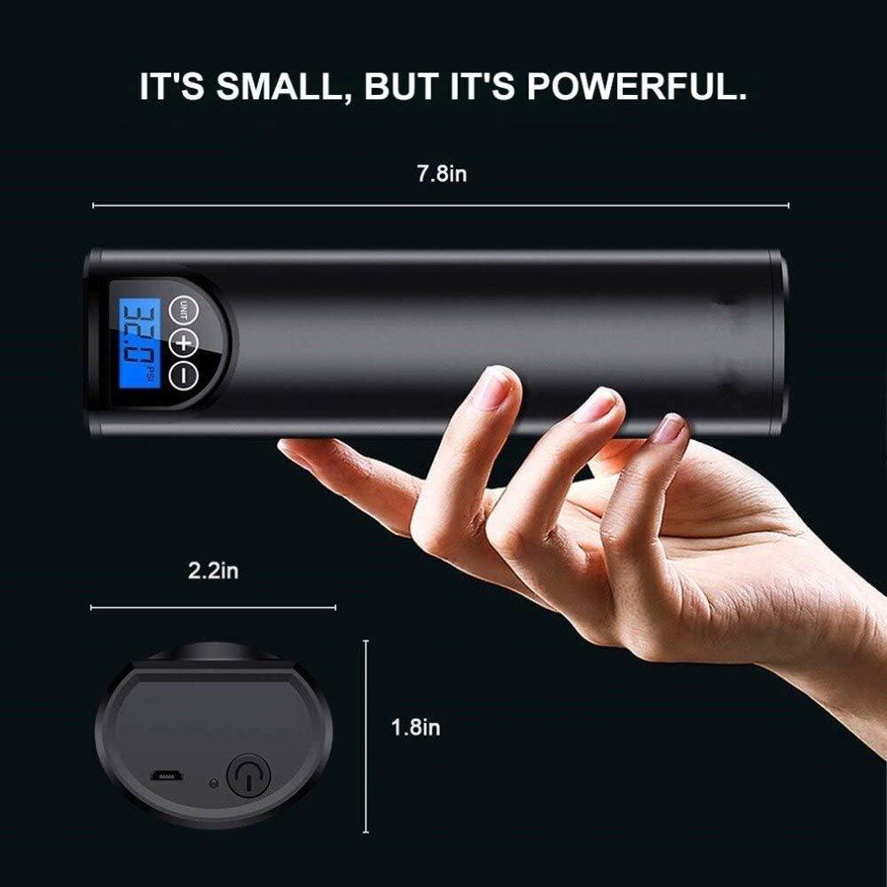 Pantalla Digital de Carga USB con compresor de Aire Bicicleta inflador inal/ámbrico montado en el veh/ículo para Pelota autom/óvil (con CE) 4YANG Bomba de Aire Inteligente Mini inflador port/átil