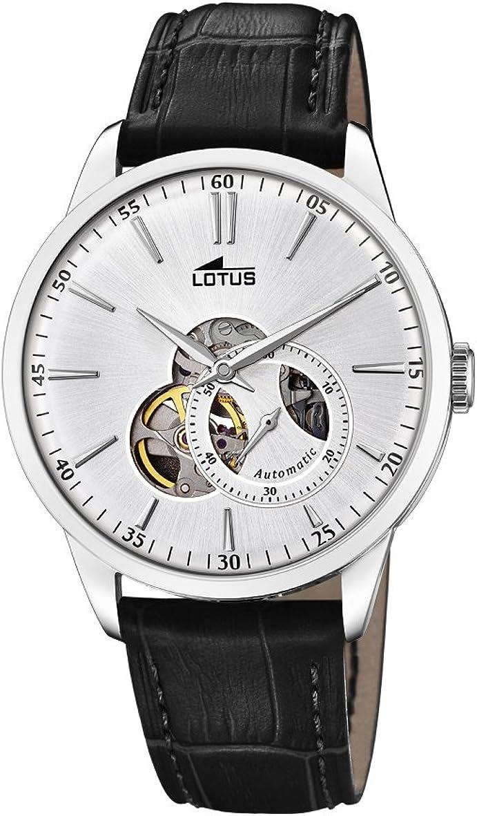 Lotus Watches Reloj Análogo clásico para Hombre de Automático con Correa en Cuero 18536/1
