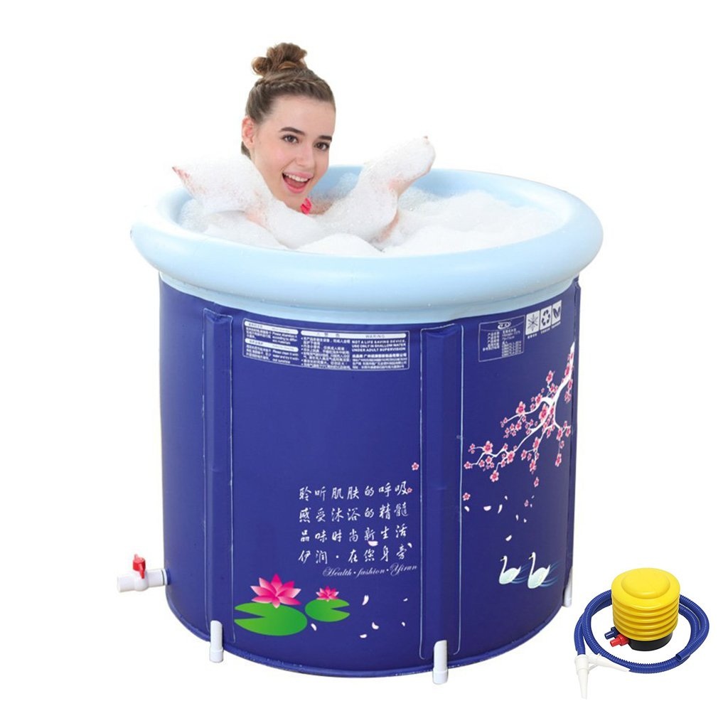 LJF- Thickened Water Folding Bath Tub Adult Inflatable Bathtub ( Size : 65*70cm ) LJF Inflatable bathtub
