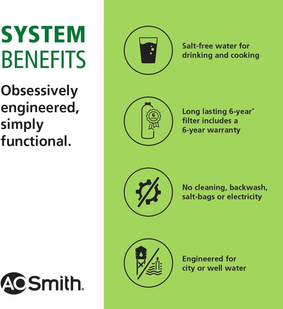 AO Smith water softener reviews descaler - benefits