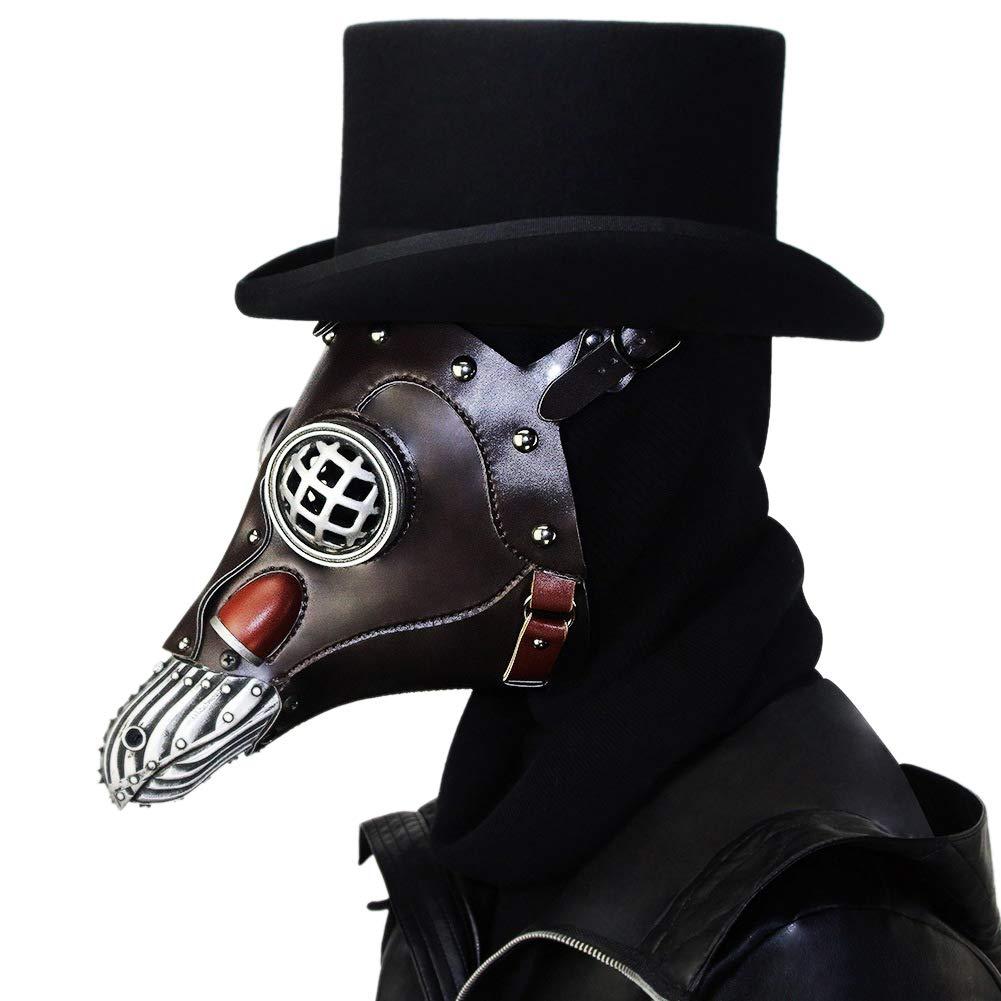Zaote Steam Punk Pest Arzt Maske Halloween Tanzparty Maske Cosplay Maske