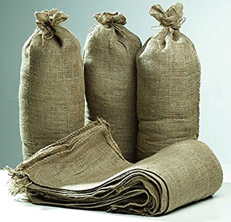 Hessian Sand Bags with Ring Ties 750x325mm (Qty Discounts) Flood Protection Sack (15) Defiance