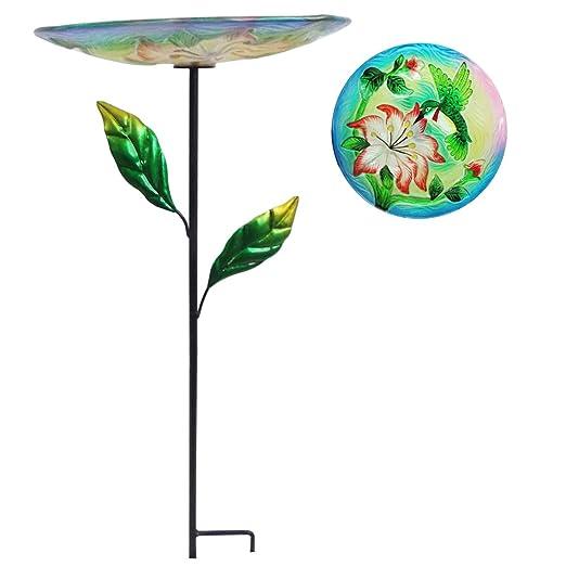 Comfy Hora 24 Bebedero para pájaros colibrí Cristal en Forma de ...