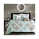 Madison Park Claire 6 Piece Quilted Coverlet Set, King/California King,...