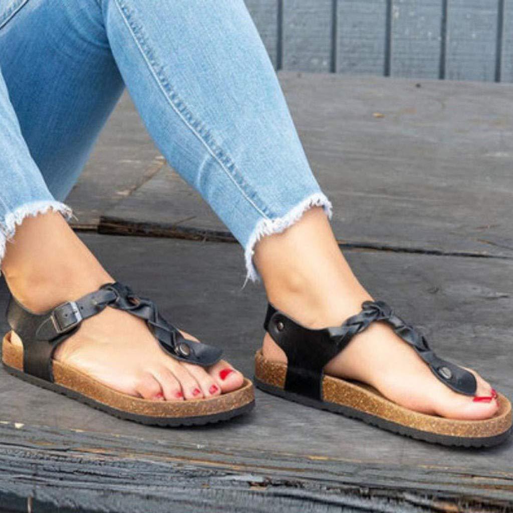 Women Fashion Rome Flip Flops Shoe Ladies Summer Beach T-Strap Flat Sandals Open Toe Sandals Hot! GoodLock TM